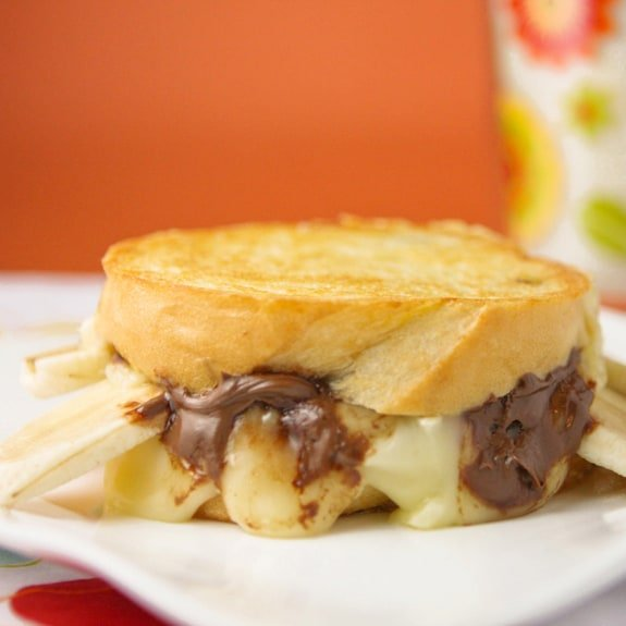 Nutella Brie-Nana Grilled Cheese