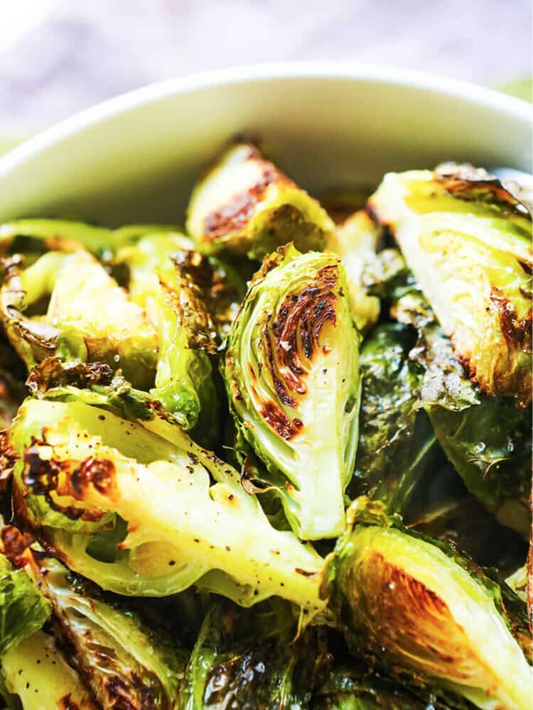 bowl of roasted brussel sprouts