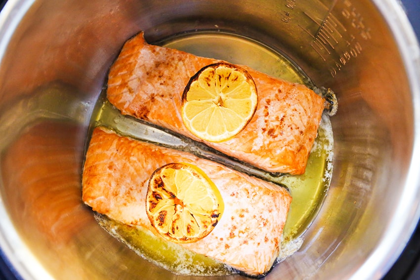 cooked salmon fillets in air fryer