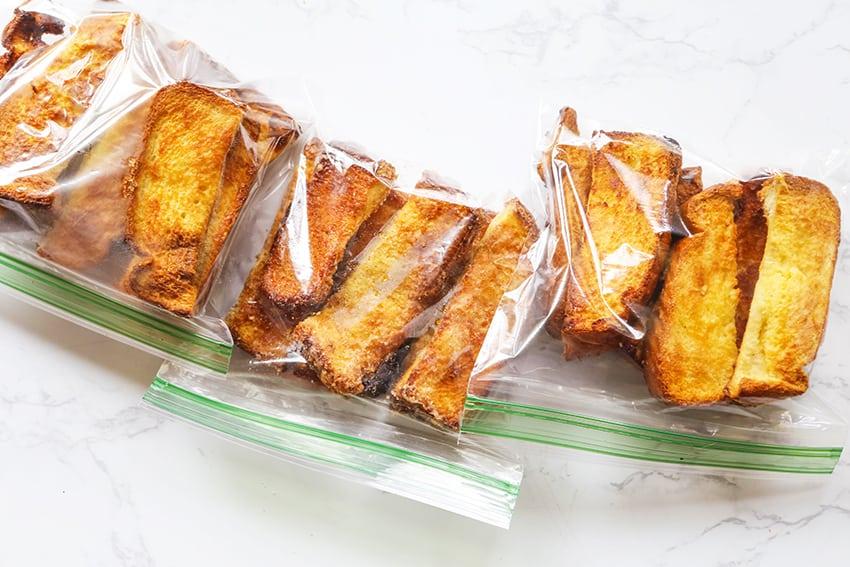 bags of freezer breakfast treats