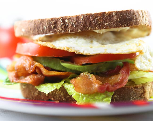 blt with a twist on a plate