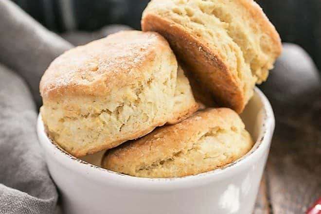 bowl of buttermilk biscuits